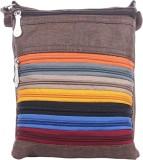 Mela Women Brown PU Sling Bag