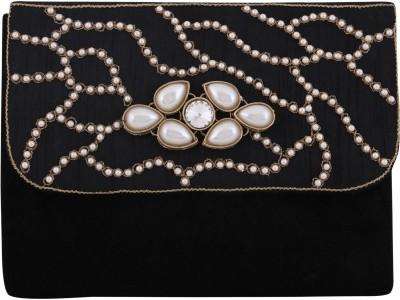 Vdesi Ethnic Women Casual, Evening/Party, Formal, Festive Black, Gold, White Velvet, Silk Sling Bag