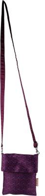 Nostaljia Girls Purple Polyester Sling Bag