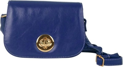 Just Women Women Casual Blue Leatherette Sling Bag