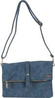 Merci Women Blue Leatherette Sling Bag