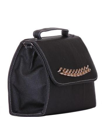 SkyWays Women Black Leatherette Sling Bag