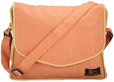 Friends of Meditation Men, Women Casual Orange Cotton Sling Bag