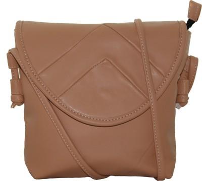 Firangi Girls Tan Rexine Sling Bag