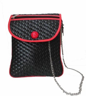 Modish Look Women, Girls Casual Black PU Sling Bag