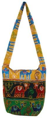 The Living Craft Women Multicolor Cotton Shoulder Bag