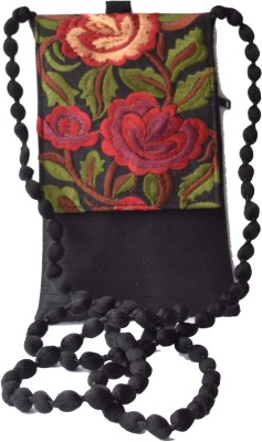 Mahadev Exports Women Black Silk Sling Bag