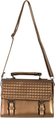 Parv Collections Women, Girls Brown Leatherette Sling Bag