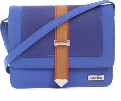 Adaira Girls Casual Blue PU Sling Bag