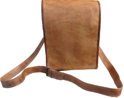 B-Unit Products Men, Women Brown Genuine Leather Sling Bag