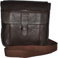 GREENFIELDS Men & Women Tan Genuine Leather Sling Bag
