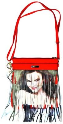 Stylathon Girls Red PU Sling Bag