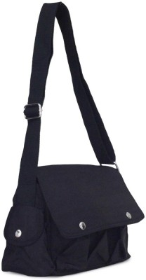 Penguin Women Evening/Party Black Polyester Sling Bag