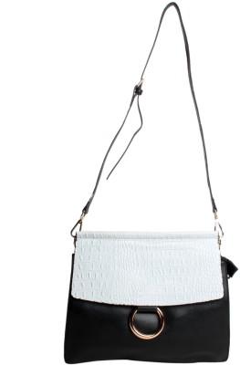 Reedra Women Silver PU Sling Bag