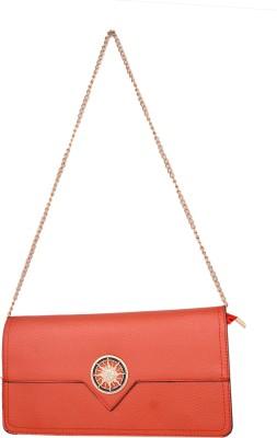 Cheery Women Brown, Orange PU Sling Bag