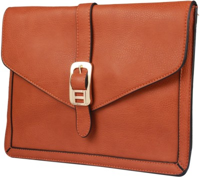 Fiza Women Orange Leatherette Sling Bag