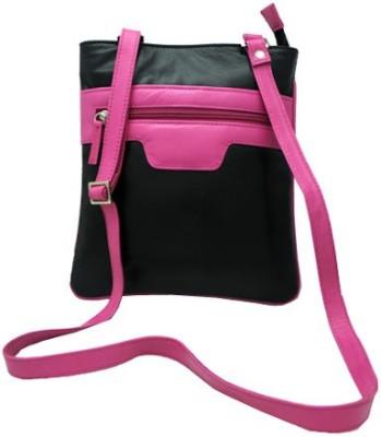 Nappastore Women, Girls Casual, Formal Black, Pink Genuine Leather Sling Bag