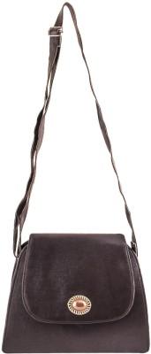 Pink Fever Women Black Leatherette Sling Bag