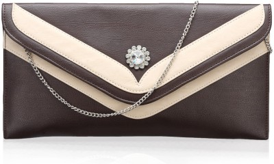 Contrast Girls Evening/Party Brown PU Sling Bag
