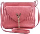 Voaka Women Pink PU Sling Bag