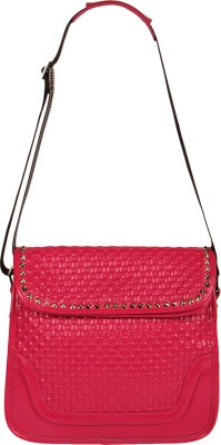 Naitik Products Women Casual Red Leatherette Sling Bag