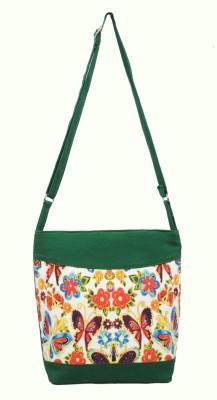 Shilpkart Women, Girls Green Canvas Sling Bag