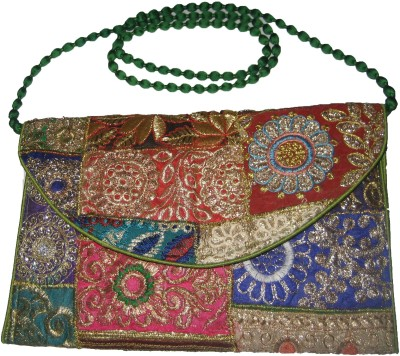 Vedic Deals Women Casual Multicolor Silk Sling Bag