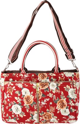 Obvio Women Red Canvas Sling Bag