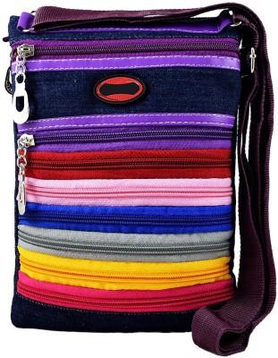 Harini Women, Men Multicolor Denim Sling Bag