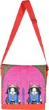 Fatfatiya Women Pink Canvas Sling Bag