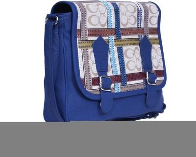 zasmina Girls, Women Blue PU Sling Bag