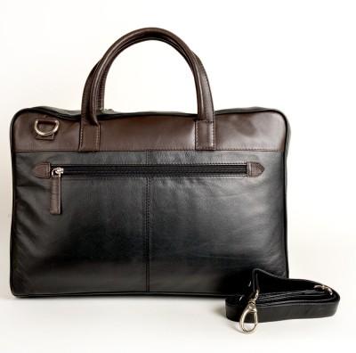 Just Differ Men Brown Genuine Leather Sling Bag