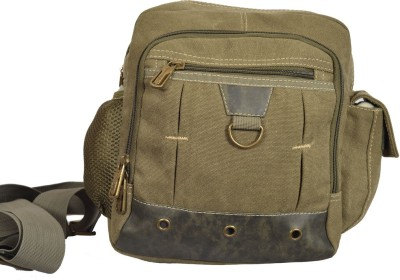 Eurostyle Boys Khaki Canvas Messenger Bag