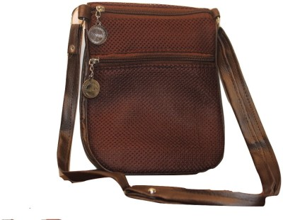 Malika Malhotra Fashion Studio Girls Brown Nylon Sling Bag