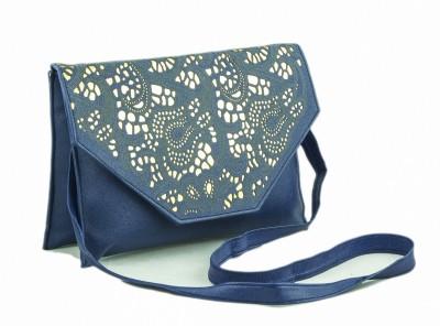 Voaka Women, Girls Blue Leatherette Sling Bag