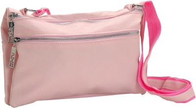 Aapno Rajasthan Women Casual Pink Genuine Leather Sling Bag