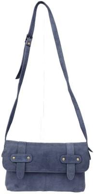 HIDEKRAFT Women Grey Genuine Leather Sling Bag