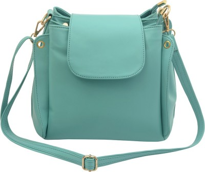 Deniza Women Green Leatherette Sling Bag