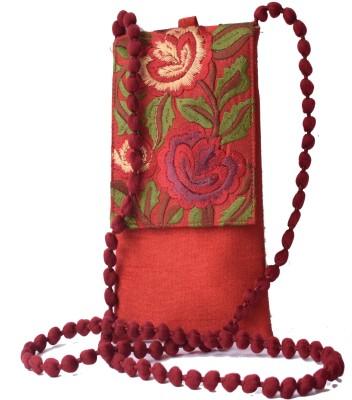 Mahadev Exports Women Maroon Silk Sling Bag