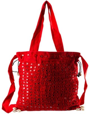 Little India Women Casual Red Cotton Sling Bag