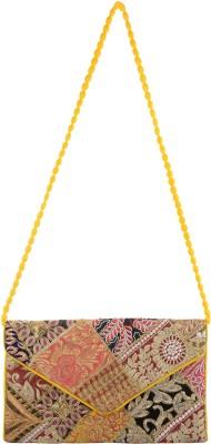 Arisha kreation Co Women Yellow Silk Sling Bag