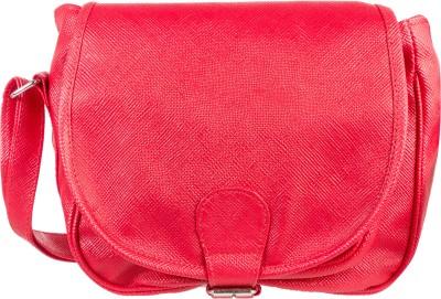 Louise Belgium Girls Pink Rexine Sling Bag