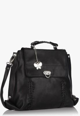 Butterflies Women Casual Black PU Sling Bag