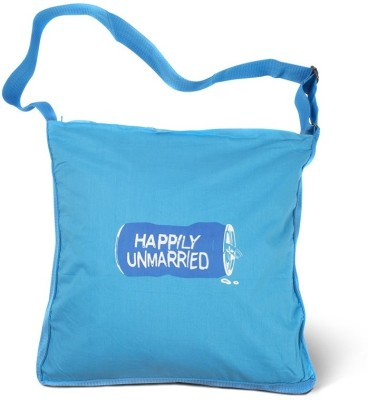 Happily Unmarried Men, Women Casual Blue Cotton Sling Bag
