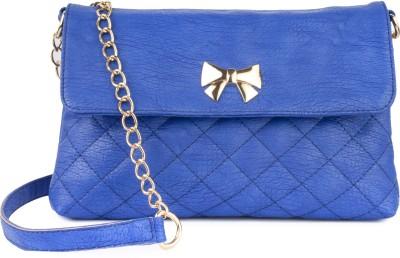 Lychee Bags Women Casual Blue PU Sling Bag