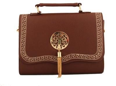 Damit Girls, Women Brown PU Sling Bag
