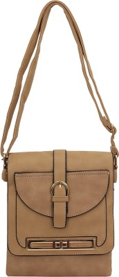 PST Women, Girls Brown PU Sling Bag