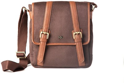 Atorse Boys Casual Brown PU Sling Bag