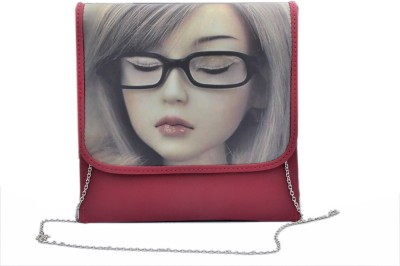UrbanStreet Women Maroon Rexine Sling Bag