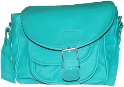 JTM Trading Girls Green PU Sling Bag